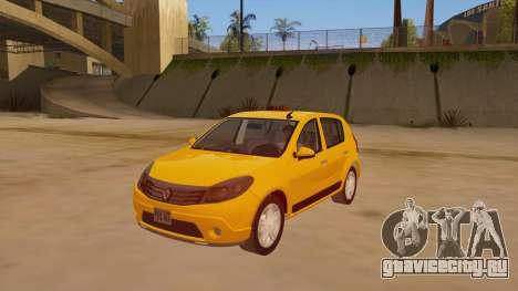 Renault Sandero Taxi для GTA San Andreas