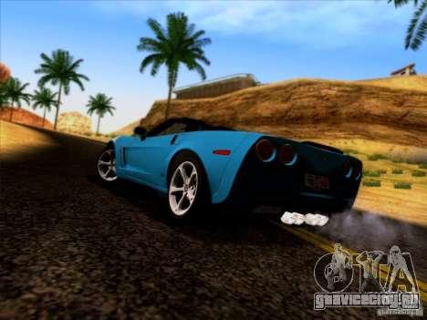 Chevrolet Corvette C6 Convertible 2010 для GTA San Andreas вид сзади слева