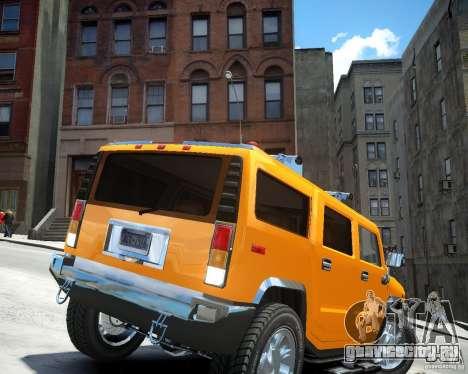Hummer H2 2010 Limited Edition для GTA 4 вид сзади слева