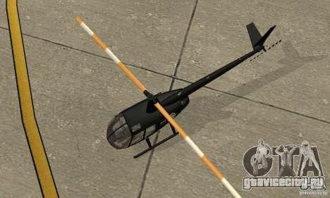 Robinson R44 Raven II NC 1.0 Чёрный для GTA San Andreas вид сзади