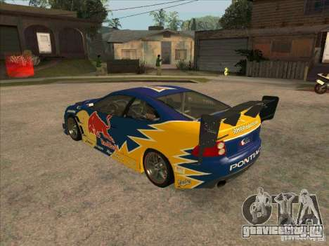 Pontiac GTO Red Bull для GTA San Andreas вид сзади слева
