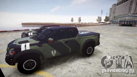 Ford F150 SVT Raptor 2011 UNSC для GTA 4 вид сзади