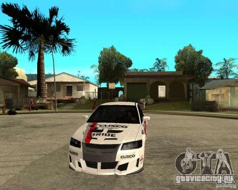 Lancer Evolution VIII япошка для GTA San Andreas вид сзади