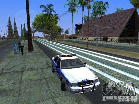 Ford Crown Victoria 2009 New York Police для GTA San Andreas вид сбоку