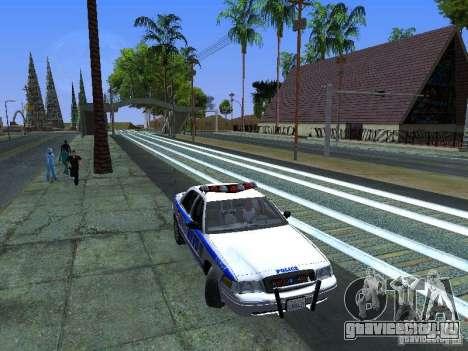 Ford Crown Victoria 2009 New York Police для GTA San Andreas вид сбоку