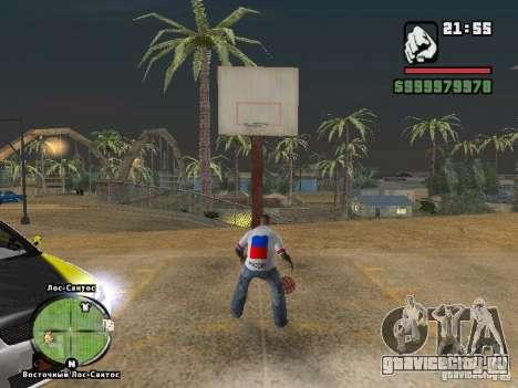 Футболка Россия для GTA San Andreas третий скриншот