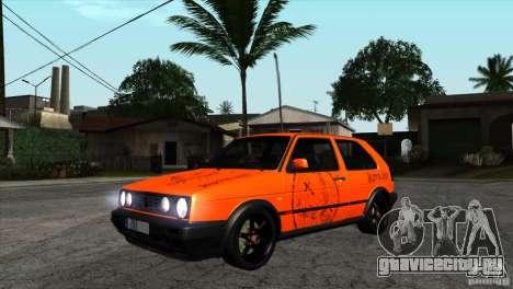VW Golf 2 для GTA San Andreas вид изнутри