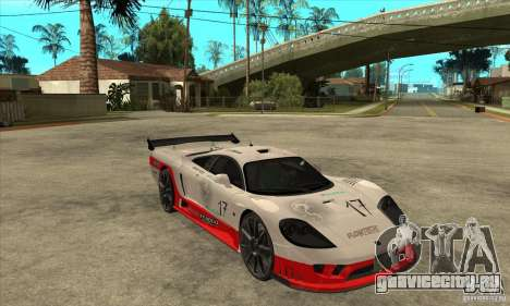 Saleen S7 Twin Turbo для GTA San Andreas вид сзади