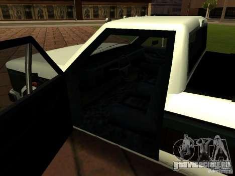 New Tuned Bobcat для GTA San Andreas вид изнутри