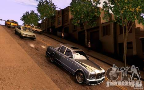 Bentley Arnage R 2005 для GTA San Andreas вид изнутри