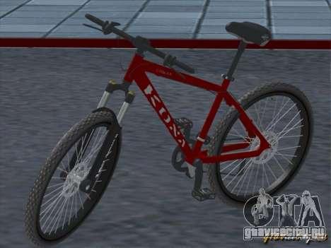 Kona Cowan 2005 для GTA San Andreas вид изнутри