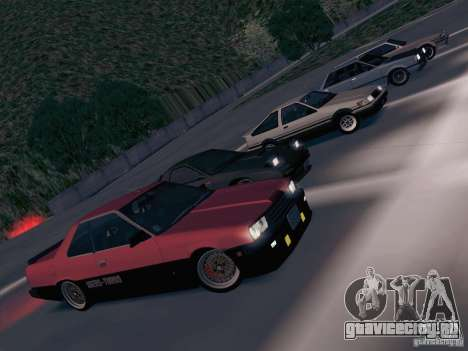 Nissan Skyline RS TURBO (R30) для GTA San Andreas вид изнутри