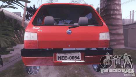 Fiat Uno Mile Fire Original для GTA San Andreas вид слева