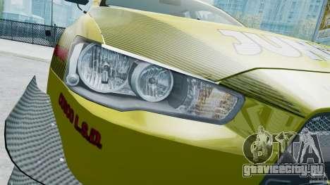 Mitsubishi Lancer X JUN для GTA 4 вид изнутри