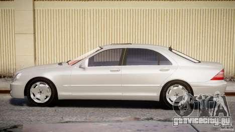 Mercedes-Benz W220 для GTA 4 вид изнутри