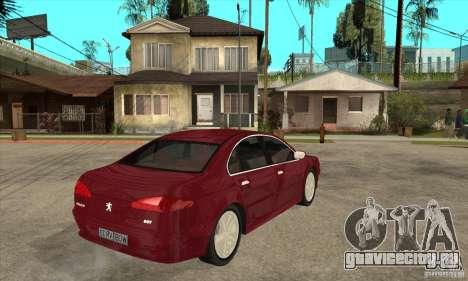 Peugeot 607 для GTA San Andreas вид справа