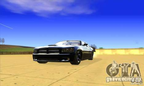 Dodge Charger From Fast Five для GTA San Andreas вид слева