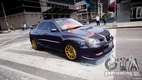 Subaru Impreza STI Wide Body для GTA 4 салон
