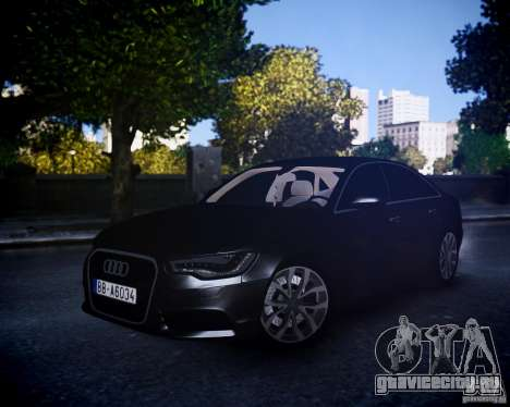 Audi A6 2012 для GTA 4 вид слева