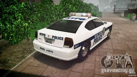 FIB Buffalo NYPD Police для GTA 4 вид сзади слева
