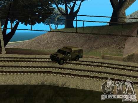 Hummer H2 Army для GTA San Andreas вид сзади