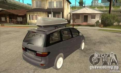 Toyota Estima для GTA San Andreas вид справа