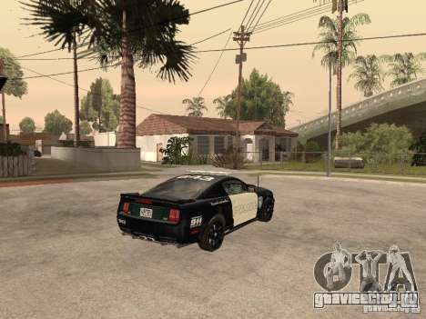Saleen S281 2007 Barricade для GTA San Andreas вид сзади слева