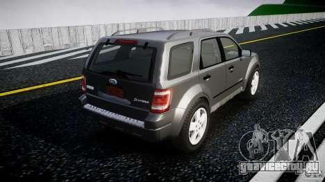 Ford Escape 2011 Hybrid Civilian Version v1.0 для GTA 4 вид сверху