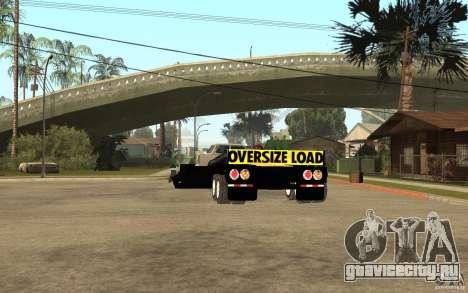 Trailer lowboy transport для GTA San Andreas вид сзади слева