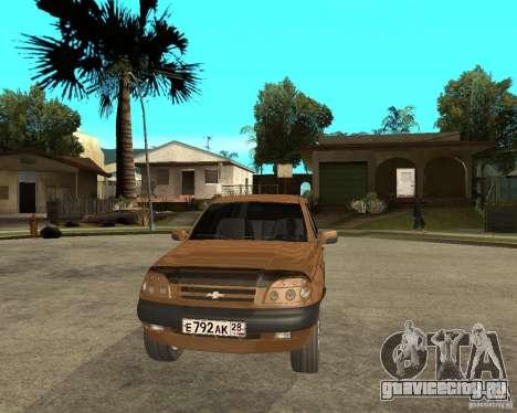 CHEVROLET NIVA Version 2.0 для GTA San Andreas вид сзади