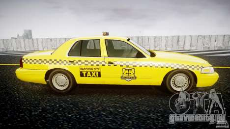 Ford Crown Victoria Raccoon City Taxi для GTA 4 вид сзади