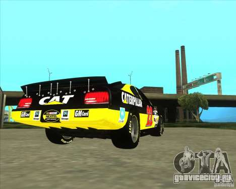 Dodge Nascar Caterpillar для GTA San Andreas вид сзади слева