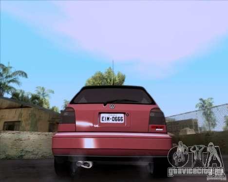 Volkswagen Golf MK3 VR6 для GTA San Andreas вид сзади слева