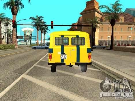 УАЗ 2206 Милиция для GTA San Andreas вид справа