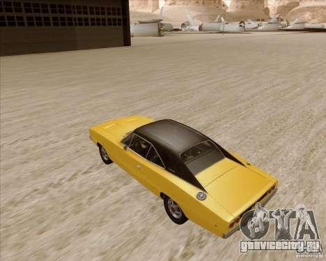 Dodge Charger RT 1968 Bullit clone для GTA San Andreas вид сзади слева