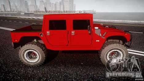 Hummer H1 4x4 OffRoad Truck v.2.0 для GTA 4 вид слева