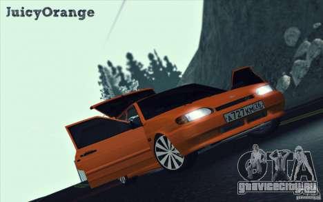 Ваз 2114 Juicy Orange для GTA San Andreas вид изнутри