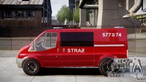 Ford Transit Polish Firetruck [ELS] для GTA 4 вид слева