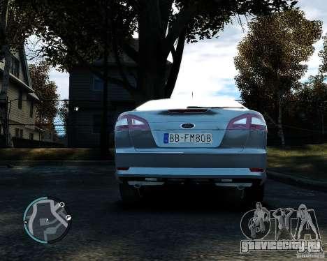 Ford Mondeo 2009 v1.0 для GTA 4 вид сзади