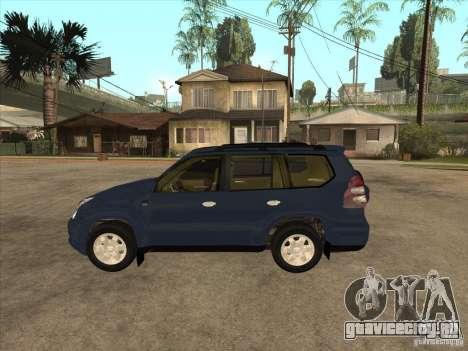 Toyota Land Cruiser Prado для GTA San Andreas вид слева