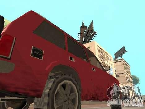 Новый Huntley для GTA San Andreas вид сзади слева