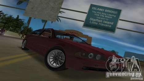 BMW 5S Touring E39 для GTA Vice City вид изнутри
