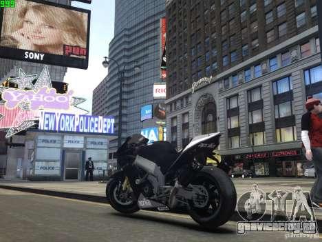 Aprilia RSV-4 Black Edition для GTA 4 вид справа