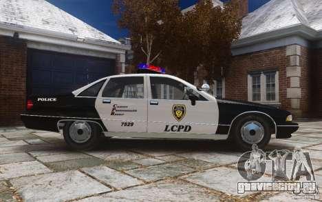 Chevrolet Caprice 1991 Police для GTA 4 вид изнутри