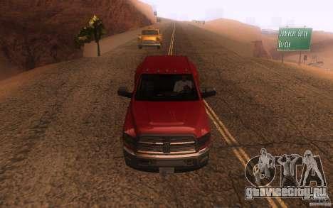 Dodge Ram 3500 Laramie 2010 для GTA San Andreas вид сбоку