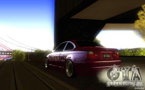 BMW M3 E46 V.I.P для GTA San Andreas вид сзади