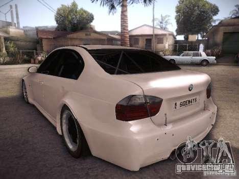 BMW 320SI Drift для GTA San Andreas вид сзади слева