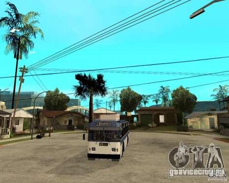 Троллейбус ЗИУ 52642 для GTA San Andreas вид сзади