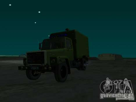 ГАЗ 3309 Автозак для GTA San Andreas вид справа