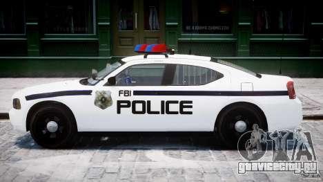 Dodge Charger FBI Police для GTA 4 вид сзади слева